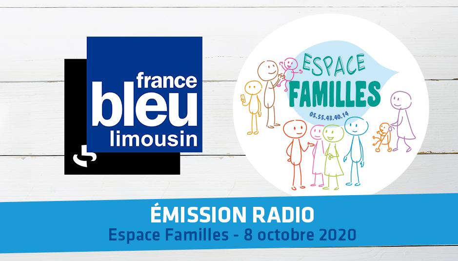 Émission Radio – Passage de l'Espace Familles sur France Bleu Limousin