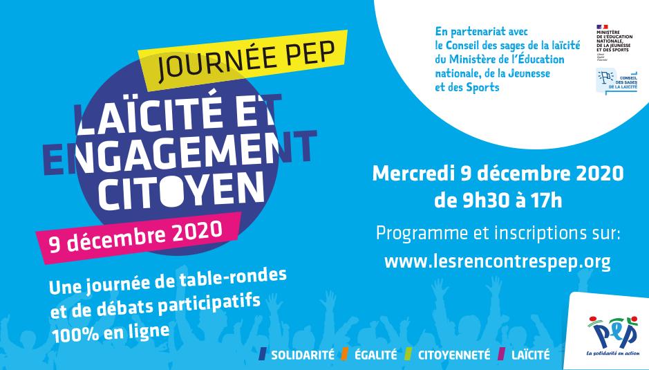 Laïcité et engagement citoyen – Une journée de débats participatifs le 9 décembre 2020