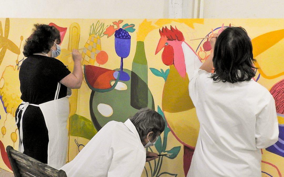 Des résidents du Foyer de Vie participent à un projet de Street Art